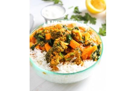Овощи-карри 100% вегетарианский рецепт!